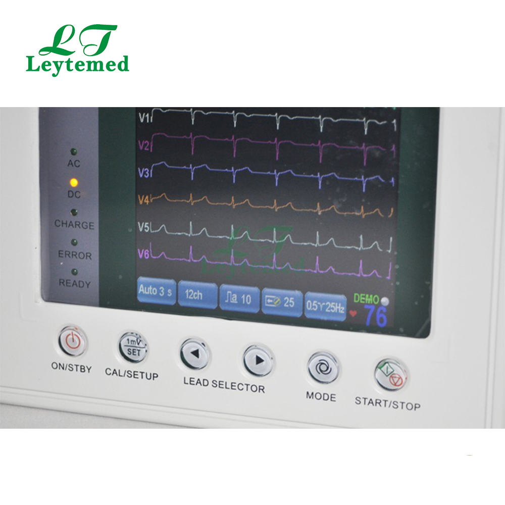 LTSE01 3 channel 7 inch color screen ECG machine