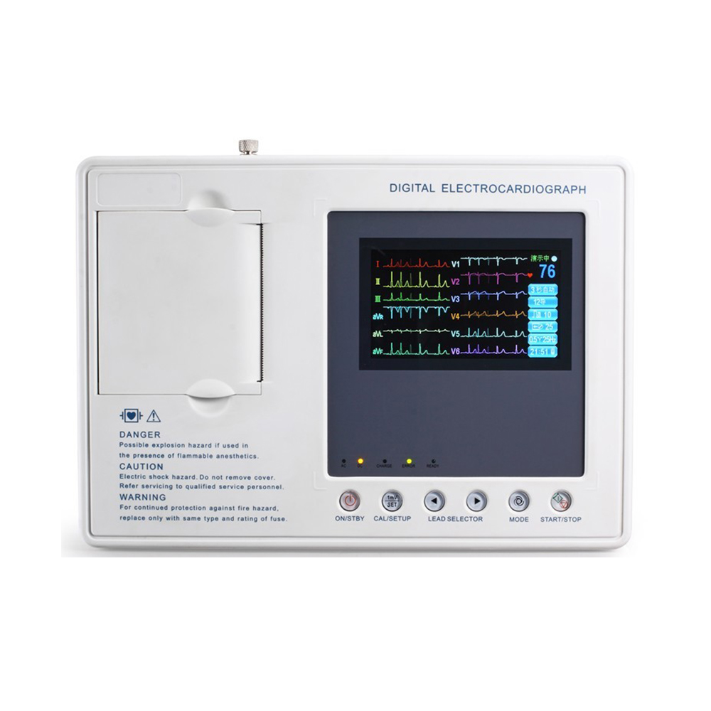 LTSE15 3 channel 4.3 inch color screen ECG machine