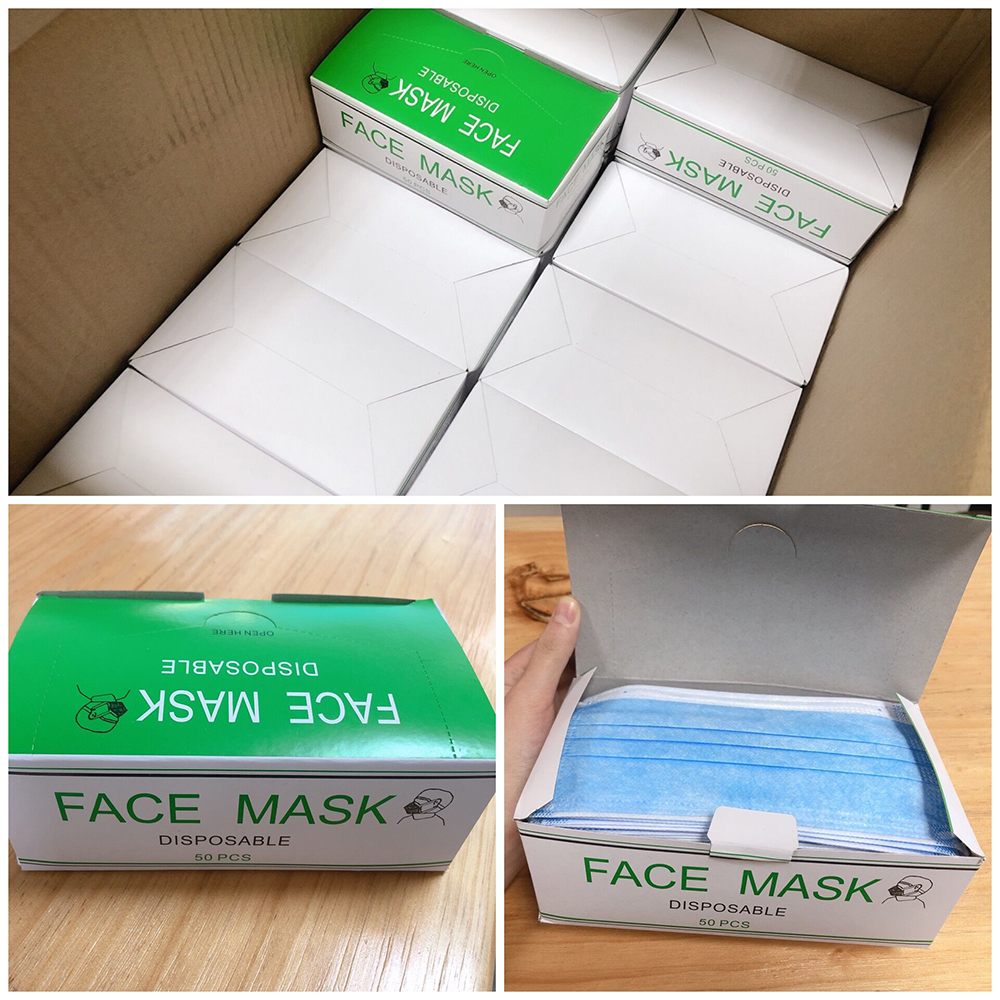 Disposable 3 Ply Non-woven Face Mask